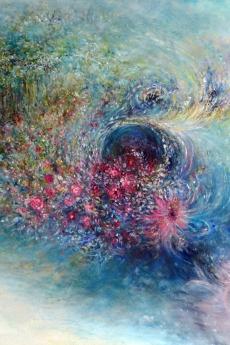 o022_Nest-of-Light-Web, oil on canvas, 61cm x 91cm